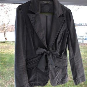 White House Black Market Gray velvet blazer